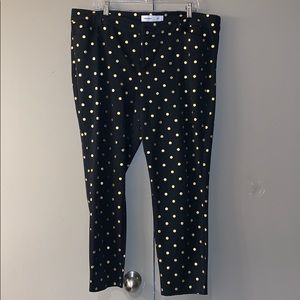 Old Navy gold polka dot pixie pant